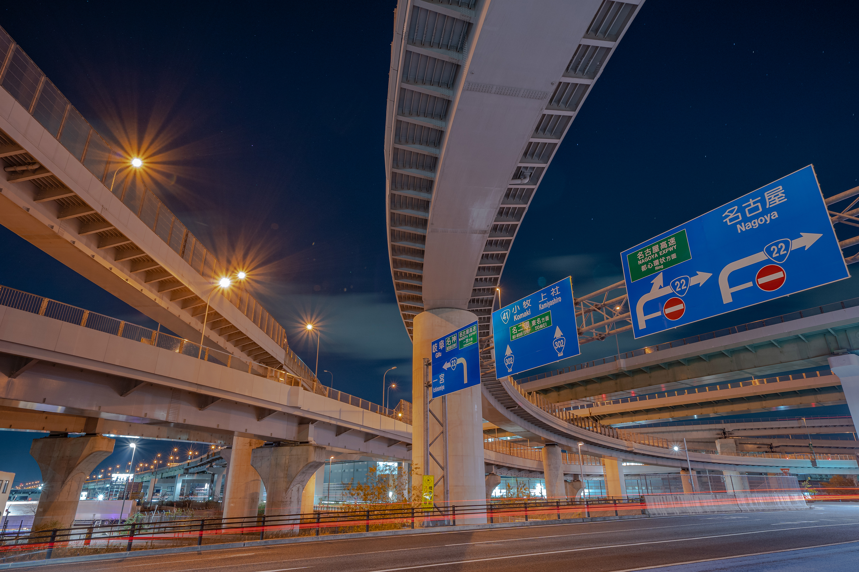 清州ジャンクション(清州JCT)の夜景(愛知県清須市)その5