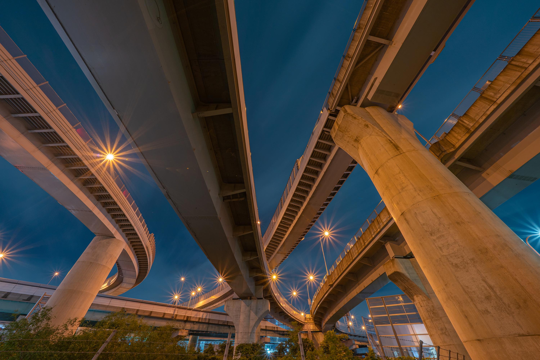 清州ジャンクション(清州JCT)の夜景(愛知県清須市)その1