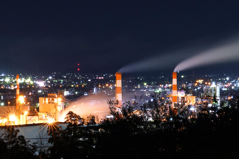 大王製紙(可児工場)の夜景(虹ヶ丘配水場)その1