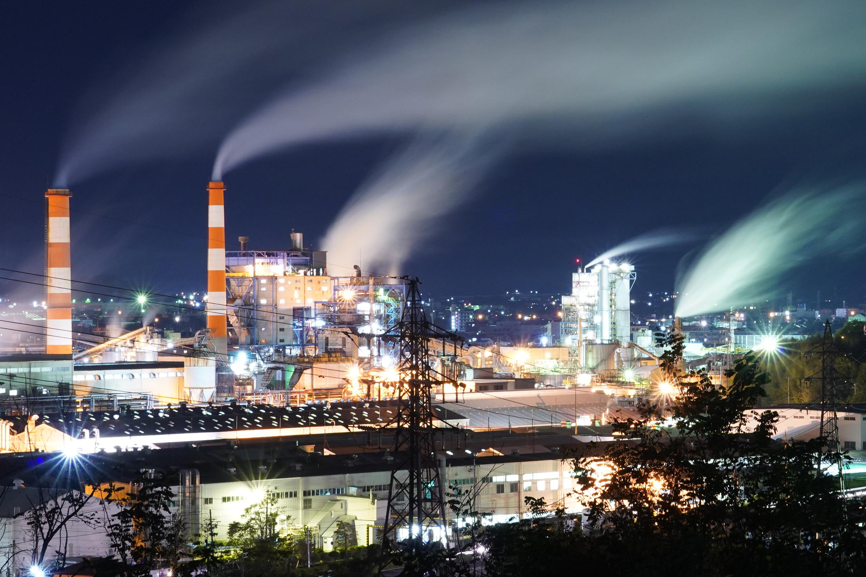 大王製紙(可児工場)の夜景(虹ヶ丘地区アルプス公園)その1
