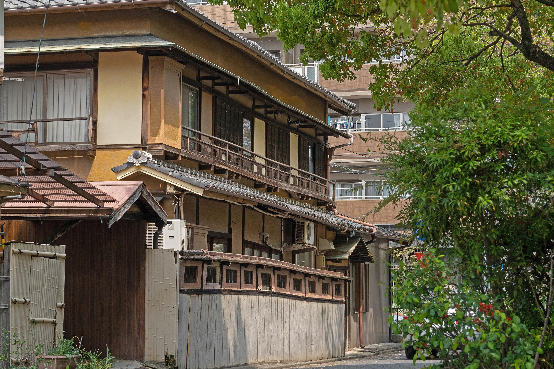 洒落た戸袋の家