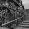 中山道、馬籠宿と落合の石畳