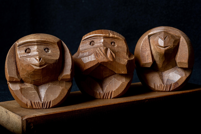 05-木製➀三猿