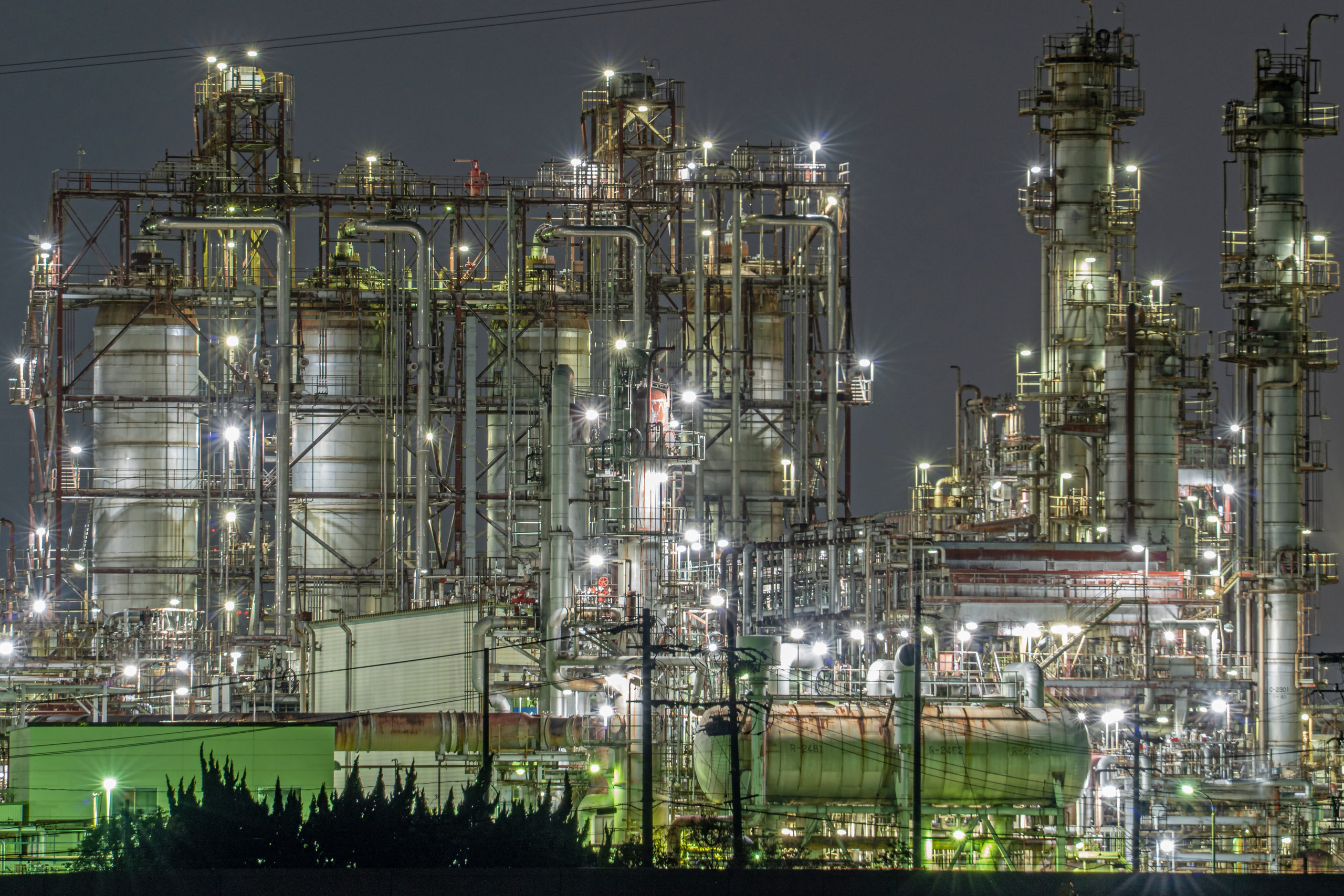Yokkaichi Shiohama area Factory night view