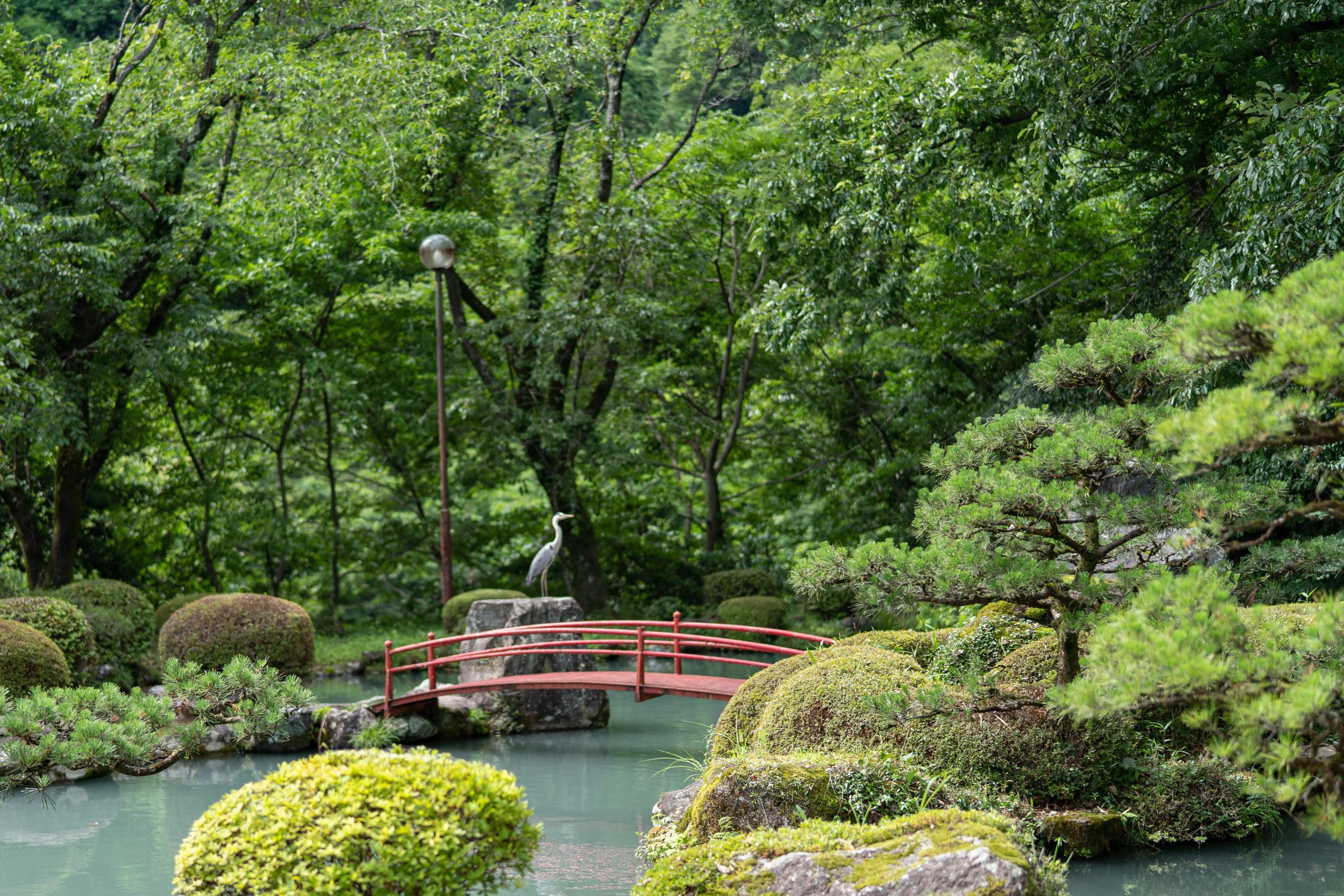 揖斐川丘苑の庭園