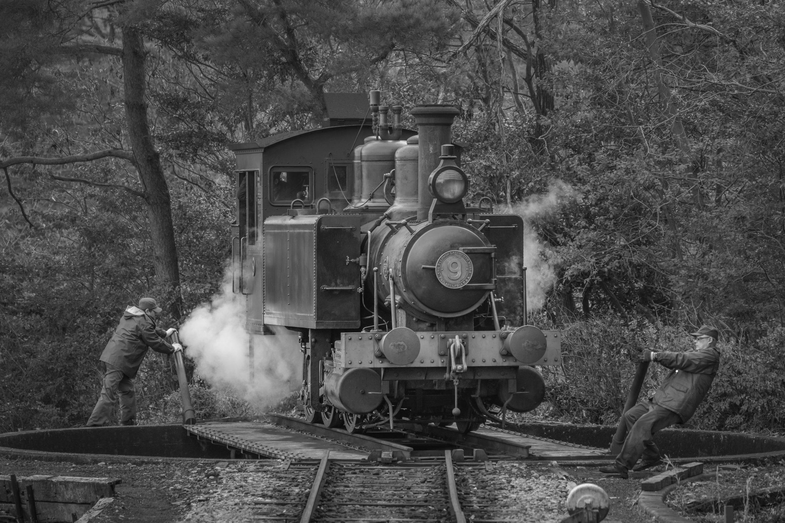 Steam locomotive Manual turntable