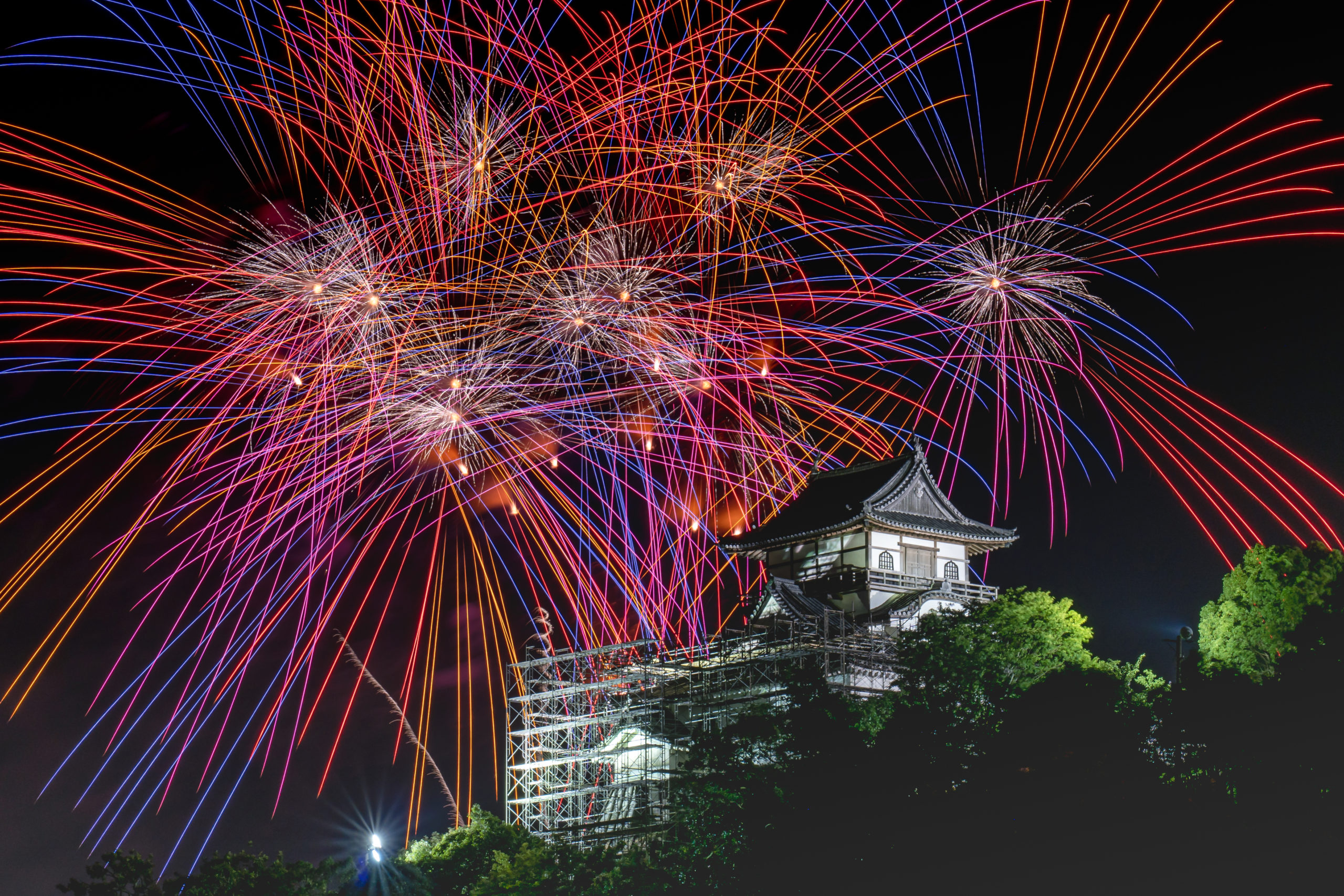 Fireworks Inuyama Castle